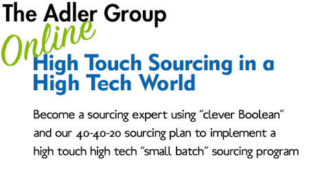 High Touch Sourcing in a High Tech World course