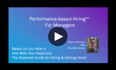 Performance-based Hiring Implementation